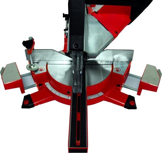 Einhell TE-SM 2131 Radiaal-, kap- en verstekzaag DUAL (Afkortzaag / Trekzaag) - 1600 W - Zaagblad: Ø210 x Ø30 mm / 48 T - Uitschuifbare werkstuksteunen - Softstart - Inclusief laser, LED-verlichting, stofzak en transportvergrendeling