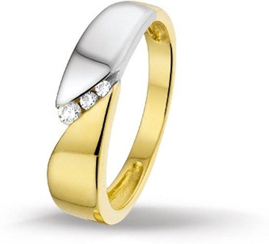 Huiscollectie 4205675 Bicolor gouden zirkonia ring