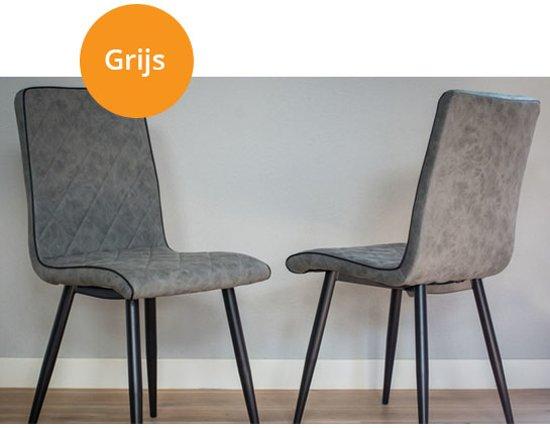 Eettafel stoelen grijs: eettafel stoelen grijs vintage eetkamerstoel