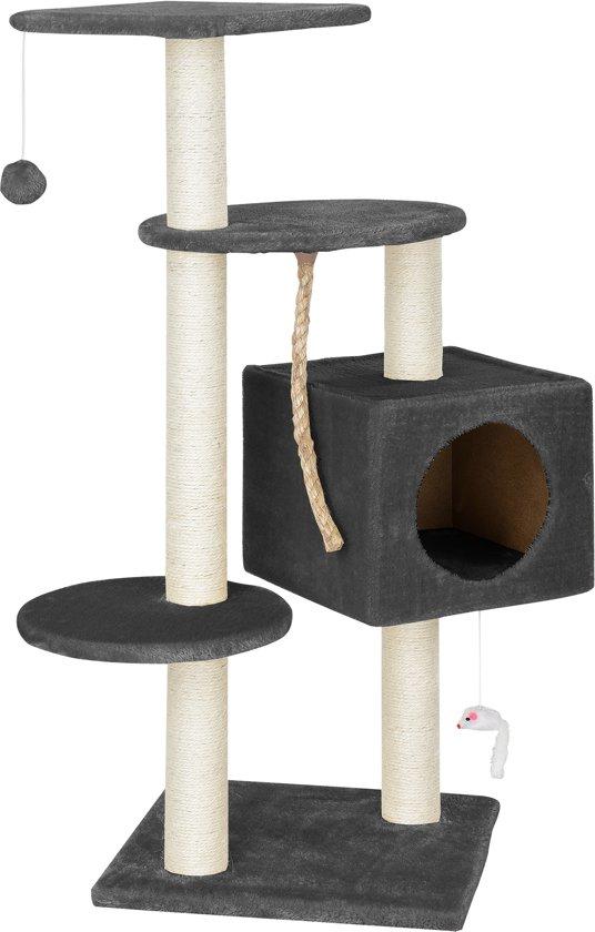 Krabpaal - krabmeubels - krabspeelgoed - 40x40x113cm-Grijs