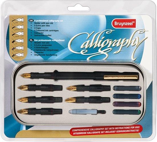 Bruynzeel Kalligrafiepen Luxe Set + kalligrafie boek voor beginners