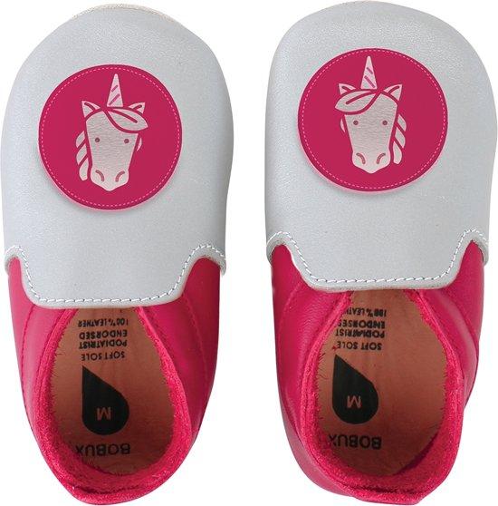 Bobux - Soft Soles Giants - Silver & fuchsia unicorn loafer - Babyslofjes - EU 32