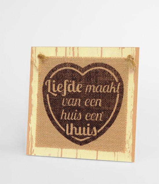 Wooden Sign liefde maakt - 60 x 19 cm - Wanddecoratie