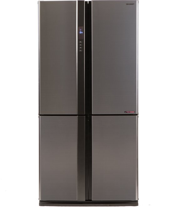 Sharp SJ-EX820FSL - Amerikaanse koelkast - RVS look