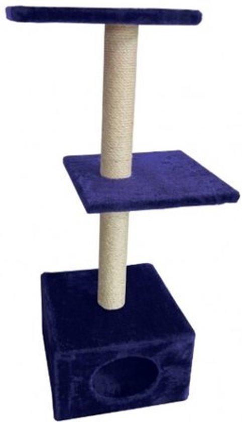 Luxe krabpaal Fernando blauw 35 * 35 * 96 cm