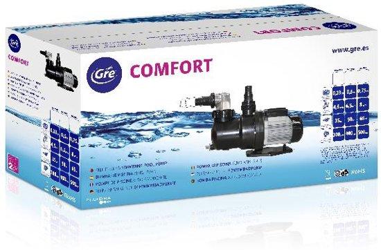 Gre Zwembadpomp Comfort 0,75 Zwart/zilver