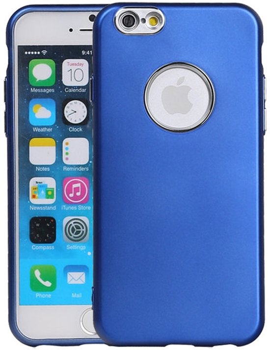 BestCases.nl Apple iPhone 6 / 6s Design TPU back case hoesje Blauw in Emmen