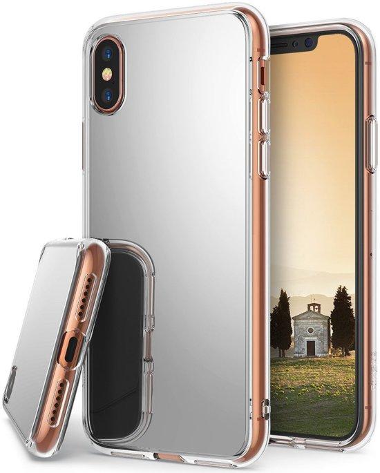 huge discount f22ae db2f4 Ringke Fusion Apple iPhone X Spiegel Hoesje Zilver