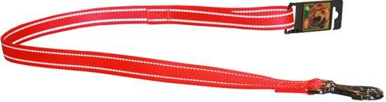 Nylon lijn uitlaatriem oranje reflecterend 25mm breed en 100cm lang