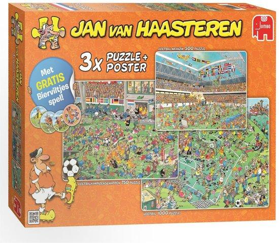 Afbeelding van Jan van Haasteren WK Voetbal 3in1 Nederland - Puzzel - 1000 stukjes speelgoed