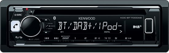 Kenwood KDC-BT700DAB - Autoradio enkel DIN - DAB+ - USB - CD - Bluetooth