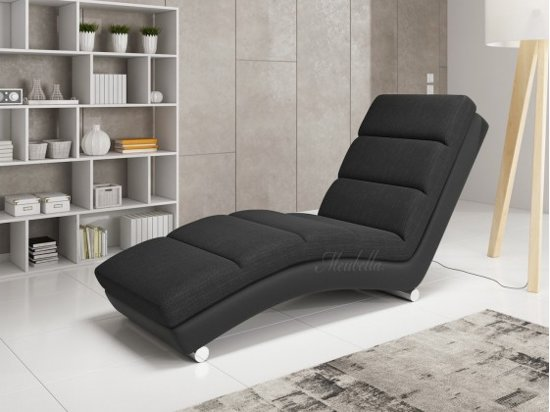 bol.com | Chaise longue Ibiza - Zwart - Leer - Stof on chaise furniture, chaise recliner chair, chaise sofa sleeper,