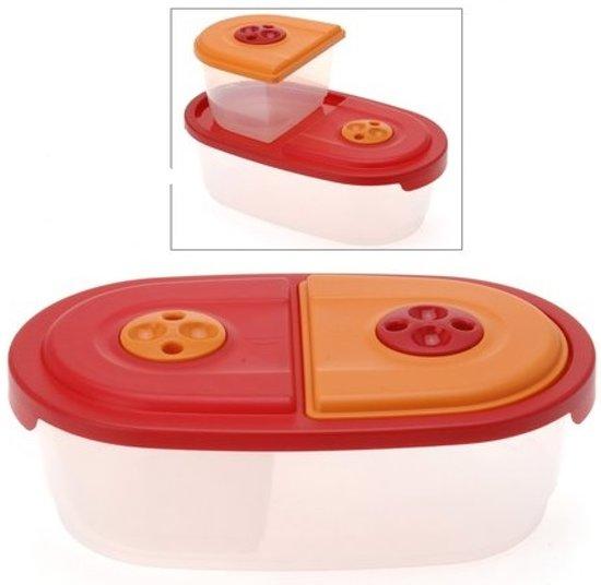 Magnetronschaal rood/oranje