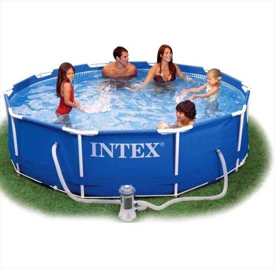 Intex Frame Zwembad 305 cm - Inclusief 12v Filterpomp