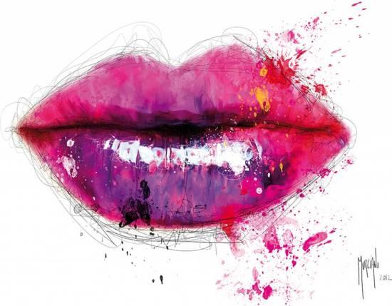 Patrice Murciano - Fotobehang Lippen - 366 x 253 cm - Multi