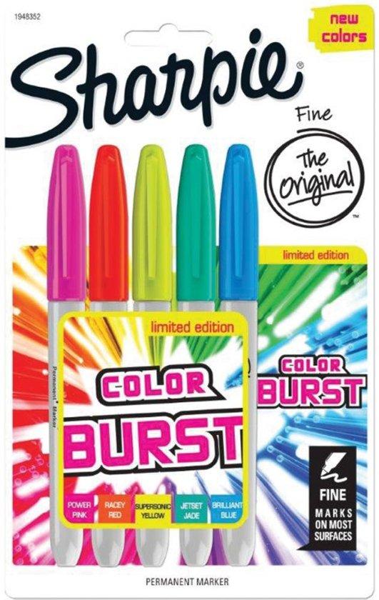 Sharpie color burst set van 5 fijne punt