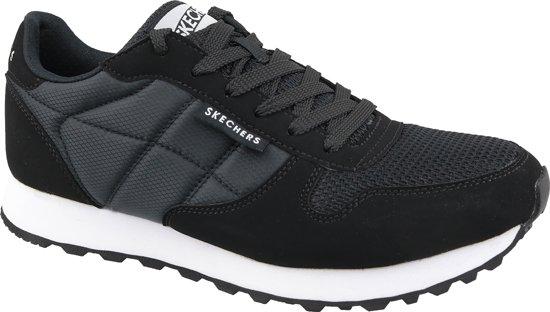 Skechers suede heren sneakers Zwart Maat 45