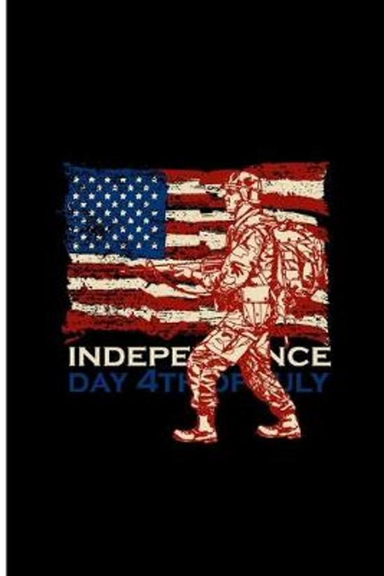Independence Day 4th of July: Happy Independence Day Perfect Gift Dot Grid Notebook/Journal (6''x9'')
