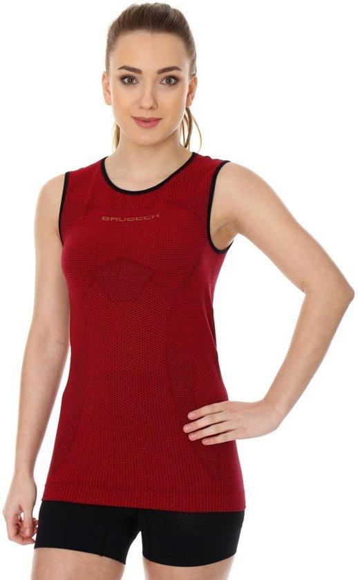 Brubeck | 3D PRO Dames Seamless Hardloopshirt - Sportshirt - Mouwloos - Cherry-M