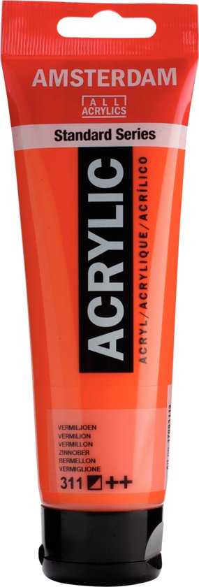 Amsterdam Standard acrylverf tube 120ml - Vermiljoen - halfdekkend