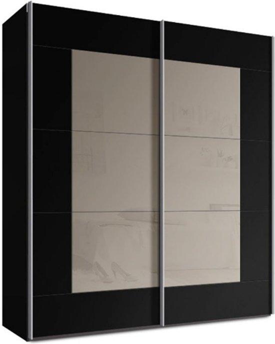 Schuifdeurkast Zwart Glas.Bol Com Schuifdeurkast Switchbox 180 Cm Glas Cappuccino Zwart
