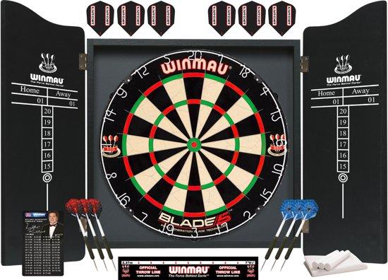 Dartkabinet Winmau blade 5 met 2 sets ABC Darts Dartpijlen
