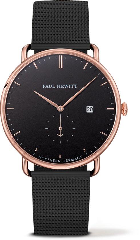 Paul Hewitt The Grand Atlantic Line - Horloge - Staal - Zwart - Ø 42mm