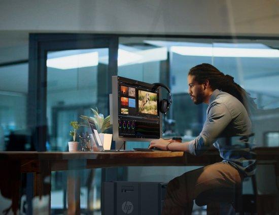 HP EliteDisplay E223 21.5'' Full HD IPS Zwart, Zilver computer monitor