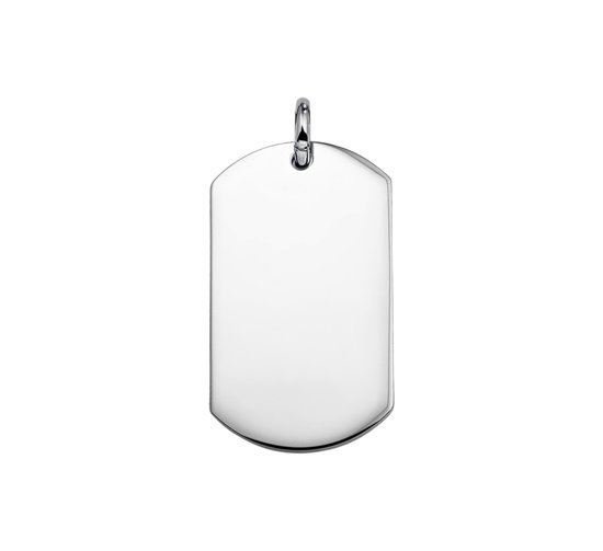 The Jewelry Collection For Men Dogtag - Staal
