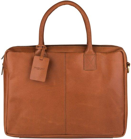 BURKELY Vintage Taylor Aktetas - 15.6 inch laptoptas - Cognac
