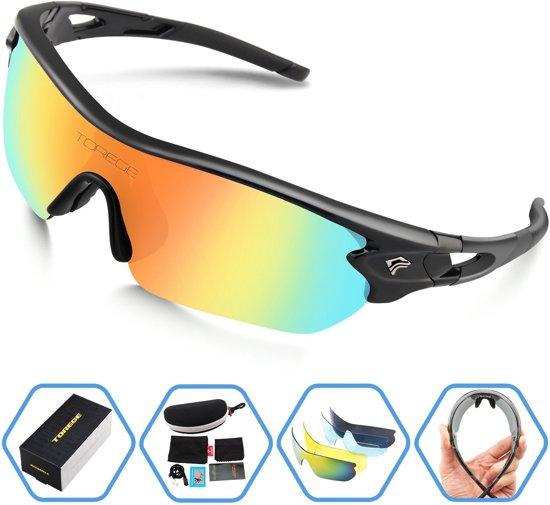 Sport Zonnebril set met verwisselbare lenzen inclusief gepolariseerde lens - fiets mountainbike fietsbril sportbril zonnebril