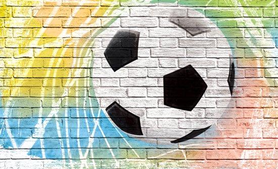 Behang Kinderkamer Voetbal : Bol.com voetbal op muur behang 312x219cm