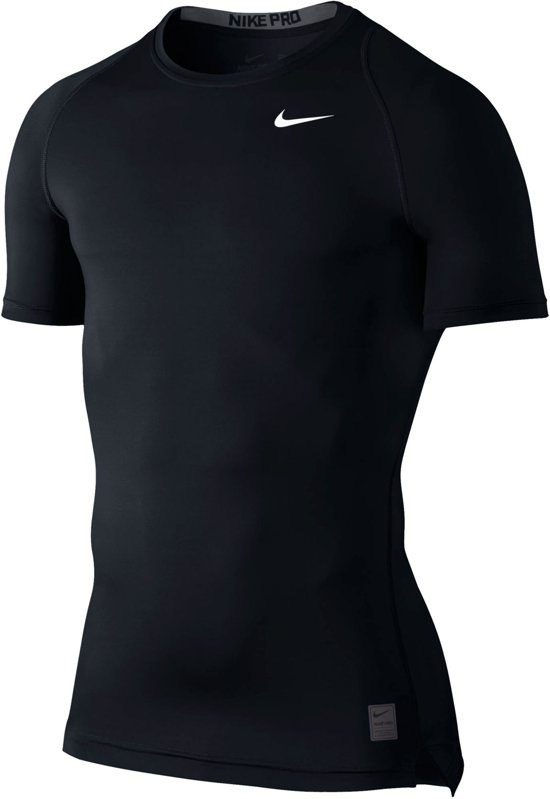 19b64bb2c4d bol.com | Nike Core Compression SS Top Sportshirt Heren - Zwart