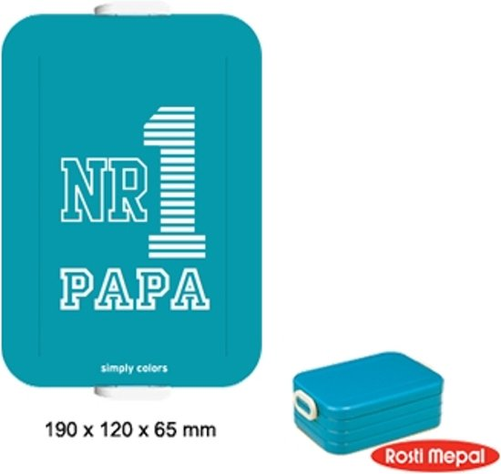 Mepal lunchbox TO GO illustration - Medium - Blauw - NR 1 Papa