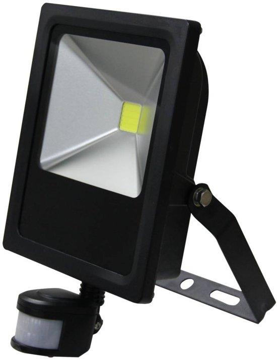 LED Schijnwerper 30W 2100lm IP65 externe PIR sensor daglicht wit