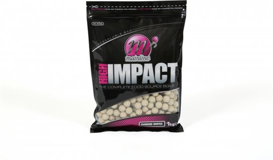 Mainline High Impact Boilie | Diamond Whites | 20mm | 1kg