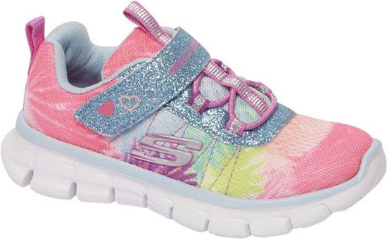 Skechers Kinderen Roze lightweight sneaker glitters Maat 28