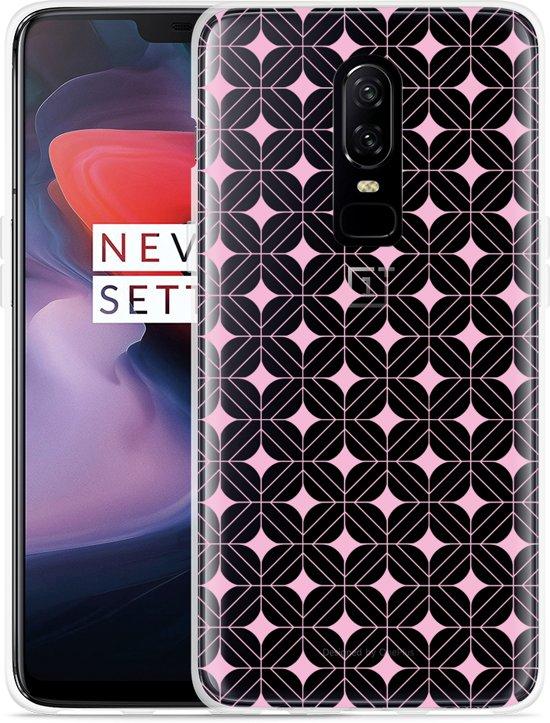 OnePlus 6 Hoesje Geometrisch Pink