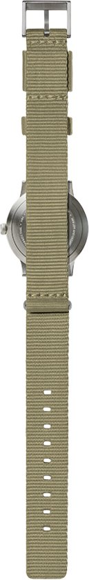 Tube watch T32 steel / sand nato strap