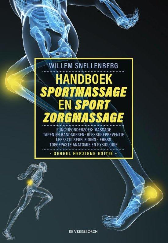 Boek cover Handboek Sportmassage basisboek van W. Snellenberg (Hardcover)