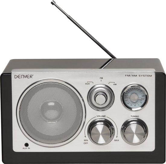 Fremragende bol.com | Denver TR-61 - Retro FM radio - Zwart ZE45