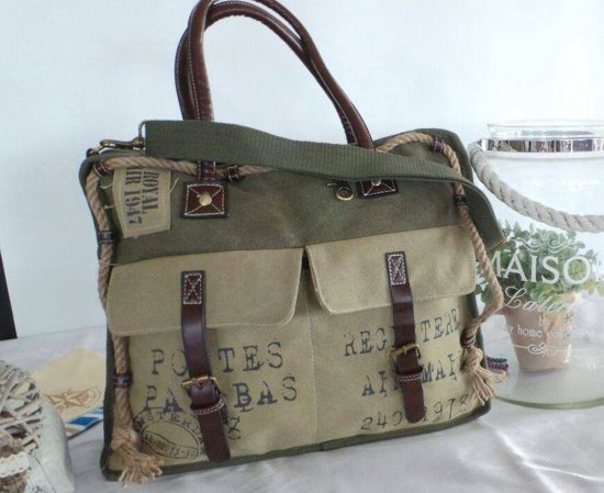 fb7fb7c084a bol.com | cowgirl postbag retro- schoudertas - canvas tas - groen