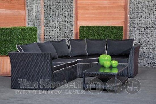 Actieprijs wicker loungeset Ferrara zwart