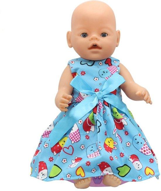 9c970e3c113599 Poppenkleding  Blauw jurkje met strik voor babypop zoals Baby Born - Met  Molang konijn