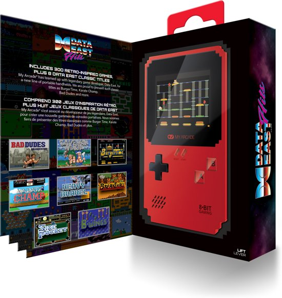 My Arcade Retro Handheld Pixel Classic 8 Data East Hits + 300 Games