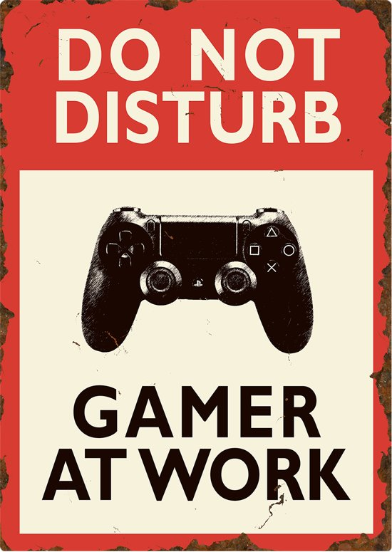 Do not disturb Gamer at work (PlayStation) -  XL