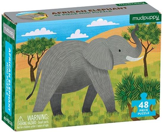 Mudpuppy 48 PC Mini Puzzle - African Elephant
