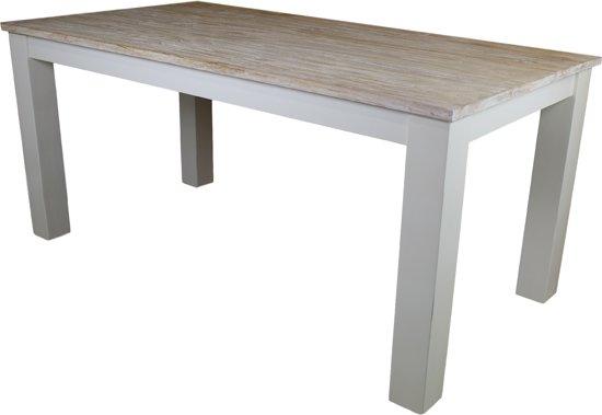 Houten Salontafel White Wash.Bol Com Hsm Collection Eettafel Oldwhite 210x100 Cm