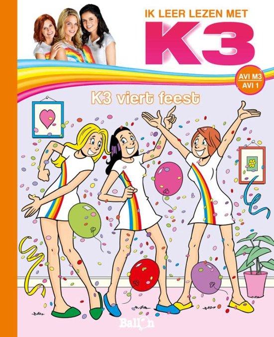 Boek cover Ik leer lezen met K3 - K3 viert feest van Saskia Martens (Hardcover)