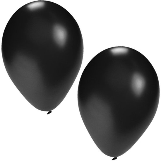 Zwarte ballonnen 25 stuks